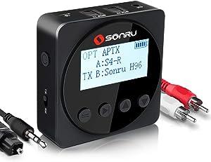 SONRU Bluetooth 5.0 Transmitter Receiver with 1.7