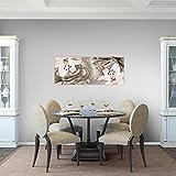 Bilder-Blumen-Lilien-Wandbild-100-x-40-cm-Vlies-Leinwand-Bild-XXL-Format-Wandbilder-Wohnzimmer-Wohnung-Deko-Kunstdrucke-Braun-1-Teilig-100-MADE-IN-GERMANY-Fertig-zum-Aufhngen-209612a