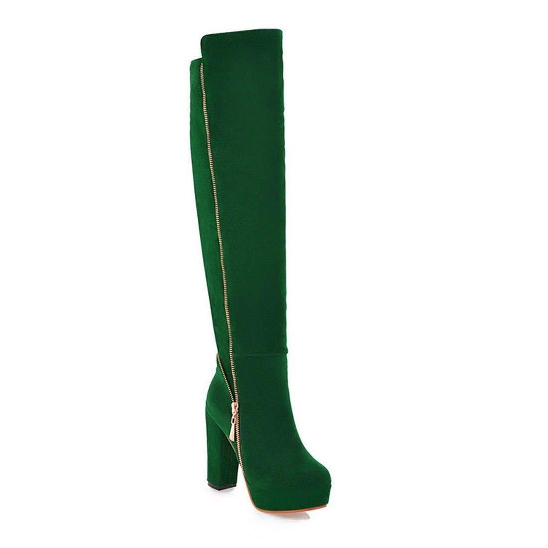 AIKAKA Frauen Herbst und Winter Europa und Amerika Amerika Amerika Sexy warm Over The Knee Stiefel Lange Stiefel High Heel Schuhe Stiefel c82e48