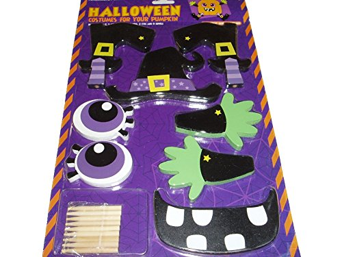 Halloween Costume for Pumpkin Decorating Push-ins Wood -
