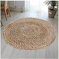 Hand Woven Jute & Multi Chindi Rug for Kitchen-Livingroom-Bedroom 3-Feet Round