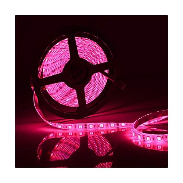 LED Strip Lights, 16.4ft RGB LED Light Strip 5050 LED Tape Lights, Color Changing LED Rope Lights with Remote for Home… 3