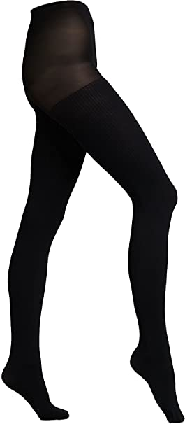 1b1499da356eb Image Unavailable. Image not available for. Color: Anne Klein Womens Tights  Ribbed Black ...