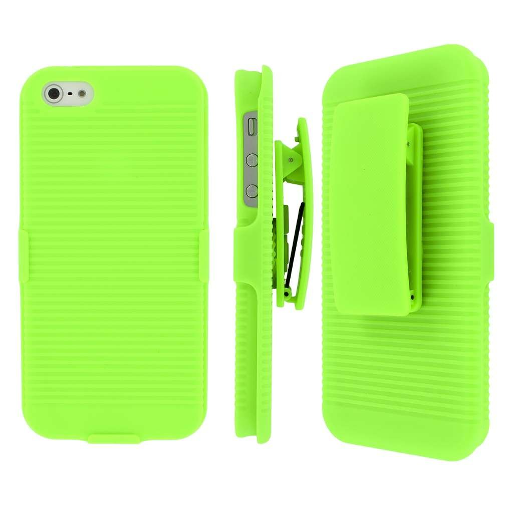 Iphone Se 5s Belt Clip Case Mpero Collection 3 In 1 Maxi Vanelia Apple 3in1 Tough Neon Green Kickstand For 5 Cell Phones Accessories