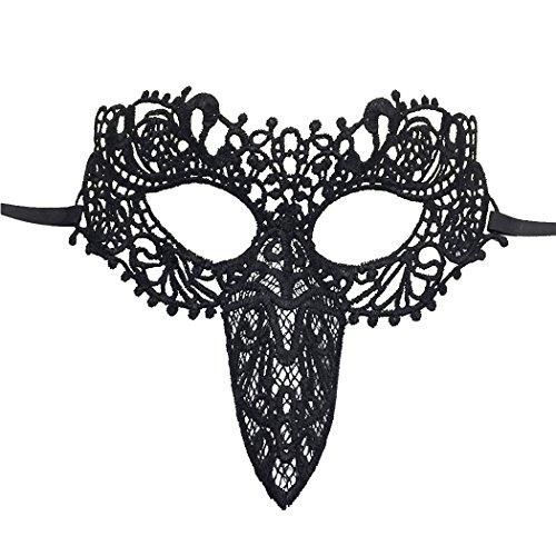 Lace Mask Breathable Woodpecker Mardi Gras Mask Halloween Masquerade -