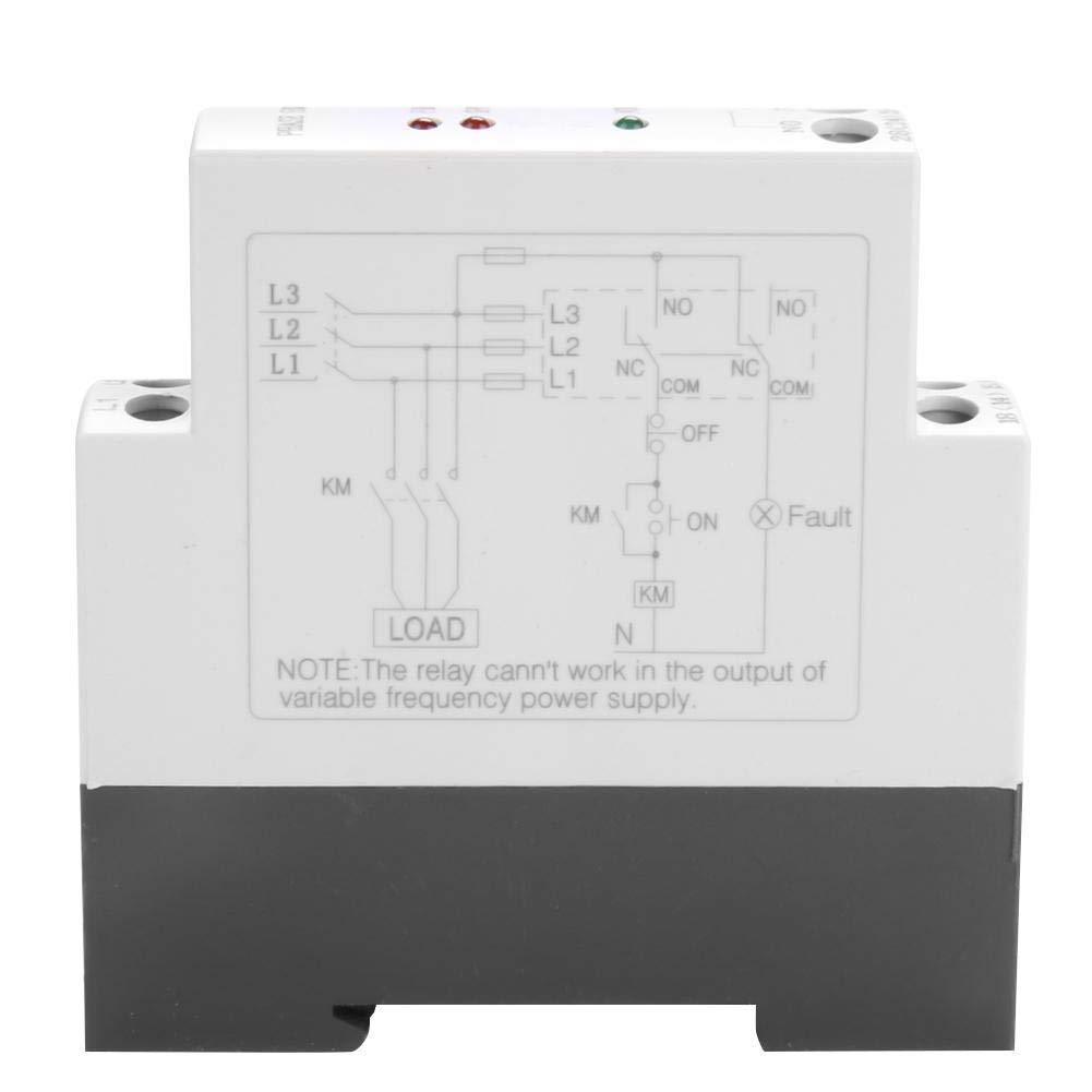 JVRD-6 3-Phasen-Spannungs/überwachungsrelais,Sequenzfehler Spannungs/überwachung Schutzrelais 200-500VAC 35MM DIN-Schiene