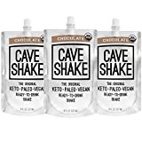 CAVE SHAKE - Keto Meal Replacement, Keto Snack, Keto Dessert, Paleo, Vegan, Low Carb, Gluten and Dairy Free, Helps Burn Fat and Kickstarts Ketosis, Chocolate 3 Pack of 8oz Shakes