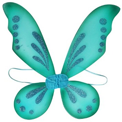 Turquoise Pixie Fairy Wings Tinkerbell Princess Tutu Dress up Costume (Tinkerbell Costume For Adults)