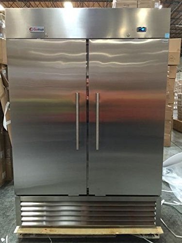 - GenKraft Commercial Refrigerator - Double Solid Door 49 Cu.Ft. - For use in the food service industry such as restaurants, bars, food catering, etc.