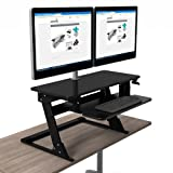 Symmetry Office High Tide II Double Monitor Arm Sit-Stand Desktop Workstation (Ships Fully Assembled)