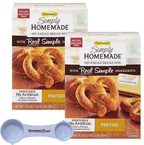 - Fleischmann's Simply Homemade Baking Mix Pretzel Creations 16.5 Ounce (Pack of 2) with Fleischmann's Measuring Spoon