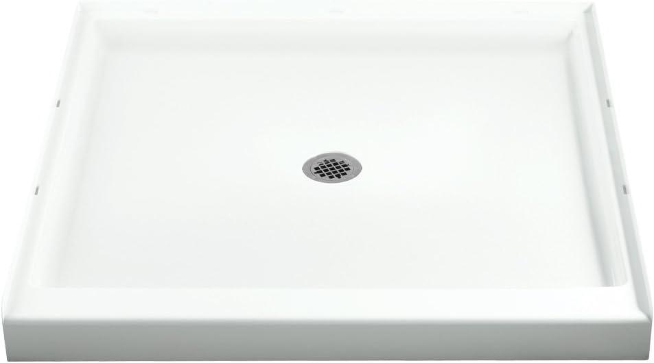 STERLING 72161100-0 36-Inch Shower Base Vikrell Center Drain, White