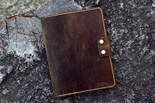 - Personalized genuine leather cover folio folder for Rocketbook Everlast Erasable Wirebound Notebook Letter Size 8.5 x 11 inch NL05RBS