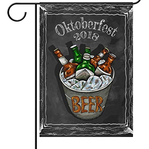 Dongingp Oktoberfest Denver Beer Fest Welcome Garden Flags 12 x 18 Double Sided, Cheers Vintage 2018 Germany Cold Beer Funny Happy Hour Drinks Beer Party Outdoor Yard House Flags Banner Home Decor