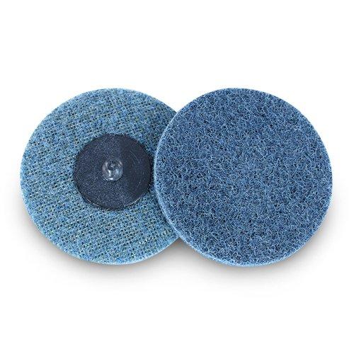 3'' Black Hawk Blue Surface Conditioning Quick Change Discs Fine Prep Pad - 25 Pack