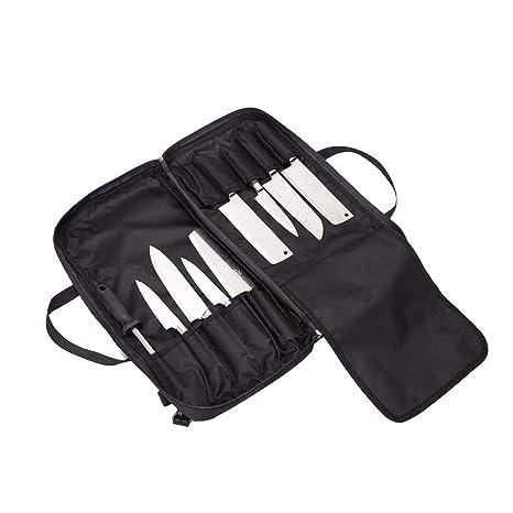 QEES DD44 - Bolsa para Cuchillos de Chef (10 Compartimentos ...