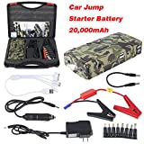 #9: Meccanixity 650A Peak Current Portable Car Jump Starter with 20000mAh Power Bank Emergency Car Battery Booster Pack Vehicle Jump Starter Charger SOS Lights