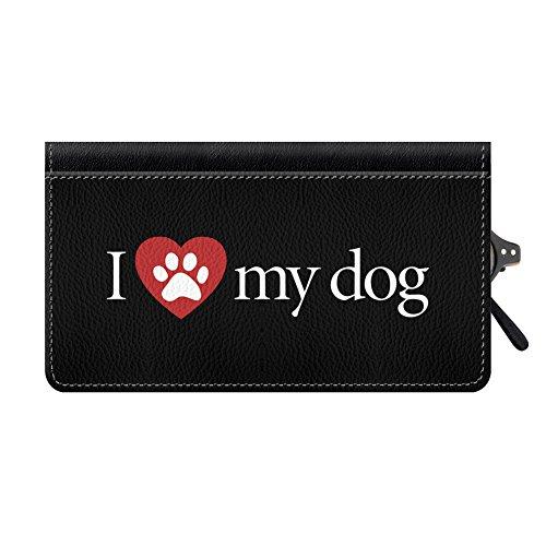 Snaptotes I Love My Dog Leather Eyeglass Case