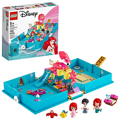🥇 LEGO Disney Ariel's Storybook Adventures 43176 Creative Little Mermaid Building Kit