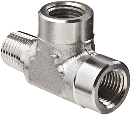3//8 in Instrumentation x 1//2 in Male Pipe Stainless Steel Instrumentation Straight Adapter Brennan 8 Units