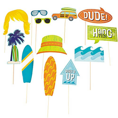 (Surf's Up Photo Stick Props (12 Pack) on 12 1/2