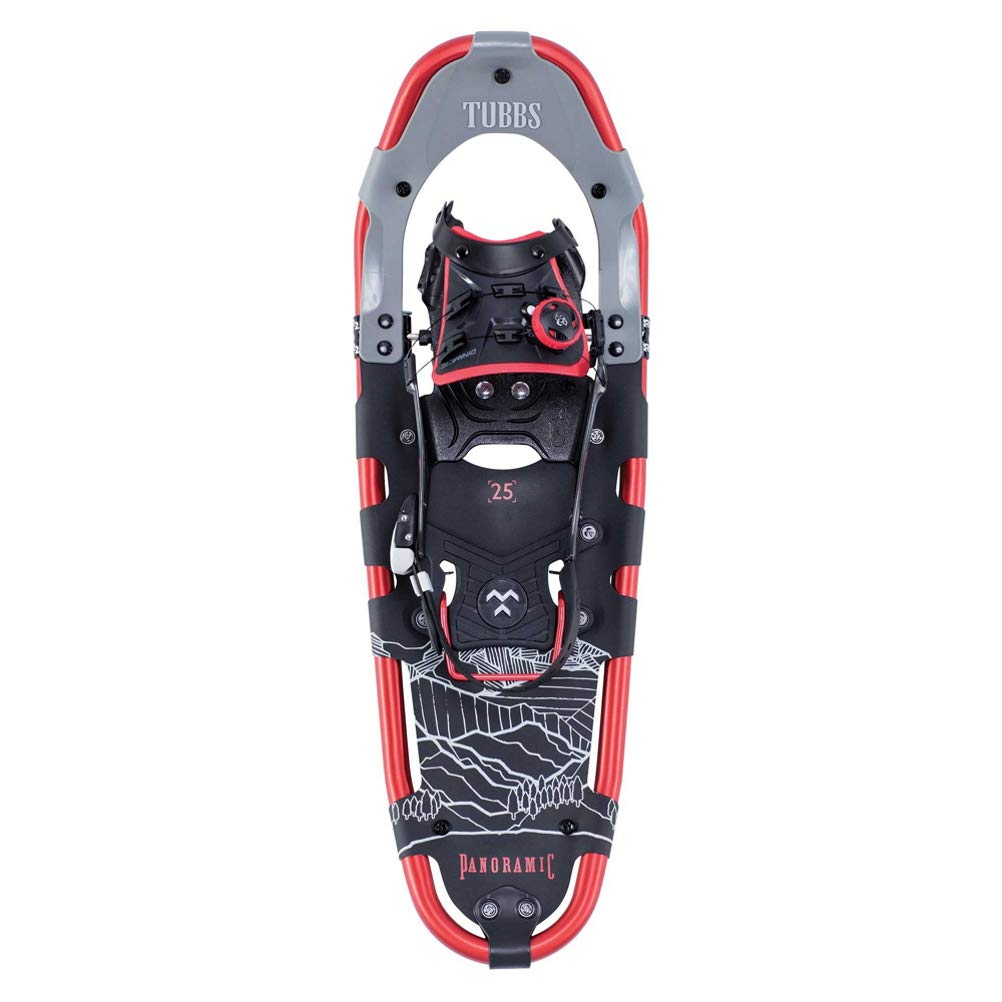 Tubbs Snowshoes Men's Panoramic Day Hiking Snowshoes, Black/Red, 30 in.