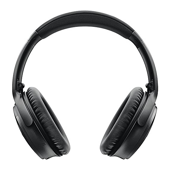 Bose QuietComfort 35 (Series I) Wireless Headphones, Noise Cancelling - Black 2 World-class noise cancellation Bluetooth and NFC pairing Balanced sound at any volume Up to 20-hour battery life per wireless charge Noise-rejecting dual microphone for clear calls Lightweight and comfortable for all-day listening Bose Connect app control QuietComfort 35 wireless headphones are engineered with world-class noise cancellation that makes quiet sound quieter and music sound better Free yourself from wires and connect easily to your devices with Bluetooth and NFC pairing