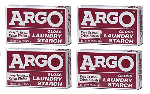 Argo Laundry Starch 4 boxes 1lb Each Play Clay & Multi Purpose by Argo Laundry Starch