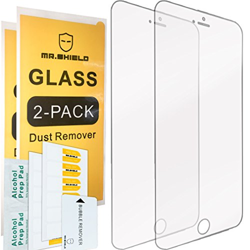 [2-PACK]-Mr Shield For iPhone 6 / iPhone 6S [Tempered Glass] Screen Protector...