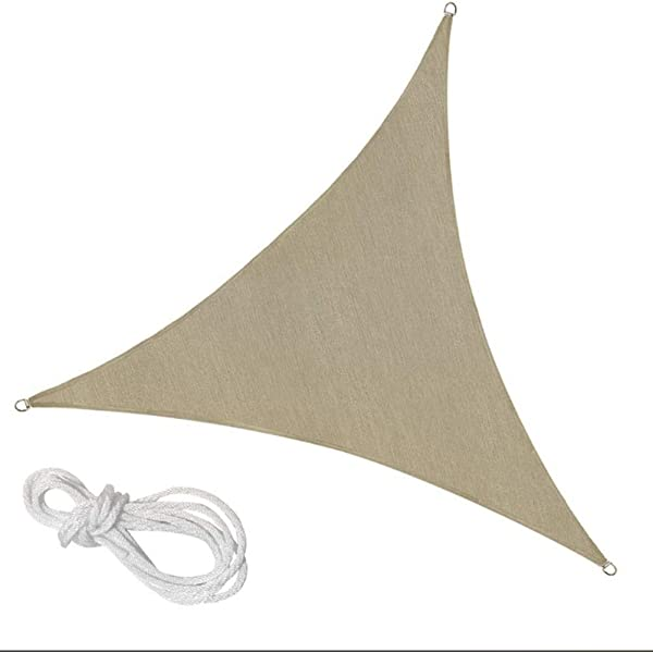 Yeahmart SHADE Toldo Vela de Sombra Triangular 3 x 3 x 3m protecci/ón Rayos 98/% UV y HDPE Transpirable para Patio Color Arena Jard/ín Exteriores