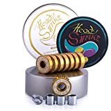 Heady Shake Pro Skateboard Bearings - Fastest Premium 608rs Titanium - Longboard, Skate Board, Kick Scooter, Inline and Roller Skates, 8-pack