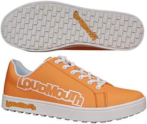[ラウドマウス] LM-GS0002 メンズ スパイクレス ゴルフシューズ 769-991 BigLogo (25.5cm, Orange 987)