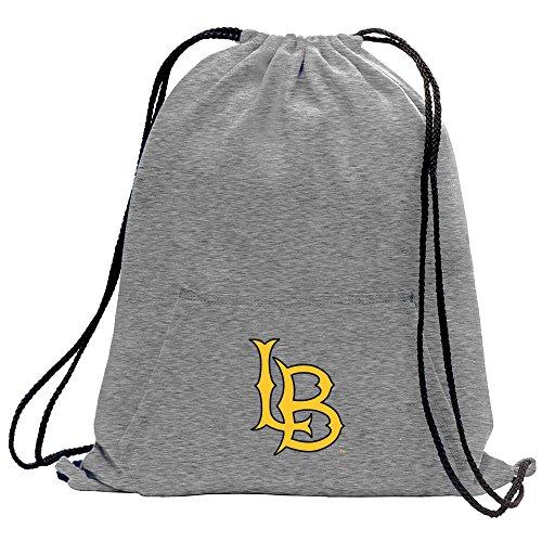 Promoversity NCAA Long Beach State 49Ers Adult Sweatshirt Cinch Bag,17.75'' x 14.5'',Athletic Heather by Promoversity (Image #1)