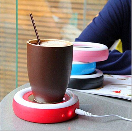 photo Wallpaper of Surborder Shop-Surborder Shop Coffee Mug Warmer Desktop USB Electronics Heat Cup Warmer-Red
