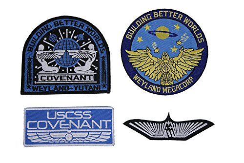 Covenant Weyland USCM Yutani Marines Nostromo Aliens Patch Set of - Detailed Tracking Usps