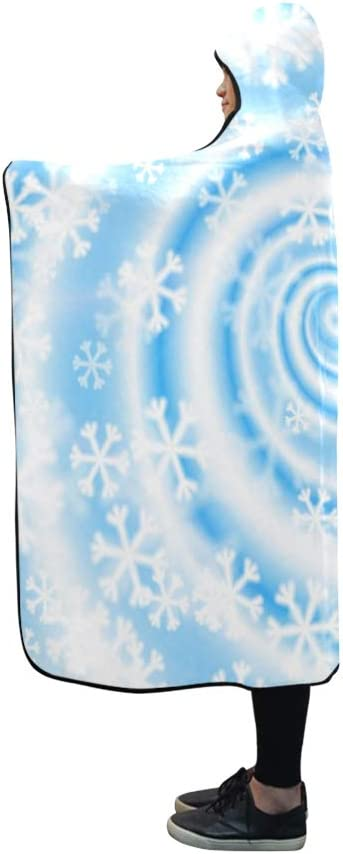 Blizzard Snowflake Light Blue Fleece Throw Blanket