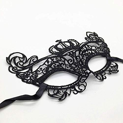 Mask Halloween for Female Half Face Carnival Ball Cosplay Lovely Masks Black Queen Cat Party Supplies -