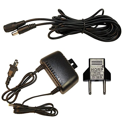HQRP Waterproof 12V 2A AC Adapter + 10 Ft DC Extension Cable