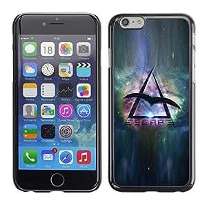 Be Good Phone Accessory // Dura Cáscara cubierta Protectora Caso Carcasa Funda de Protección para Apple Iphone 6 // Space Travel Eagle Universe Triangle Symbol