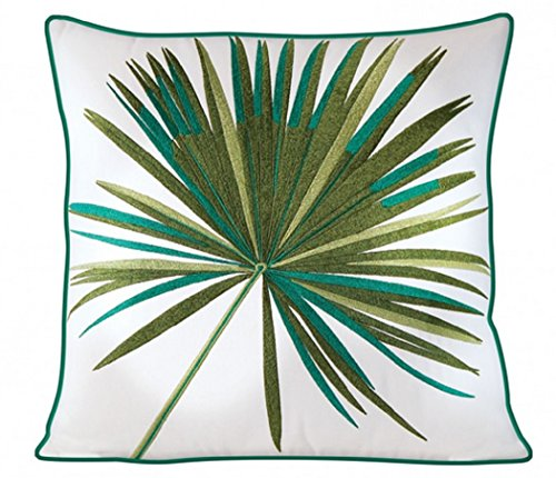 - Rightside Design Fan Palm Indoor Outdoor Pillow with Sunbrella Fabric Cover, 17.5 Inches Square