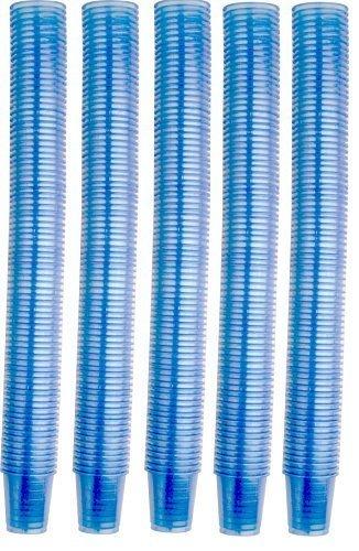 4800 Stück Medikamentenbecher Medizinbecher Schnapsbecher Premium verschiedene Farben von Medi-Inn (blau)