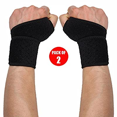 WOTOP Wrist Brace Wraps Carpal Tunnel Tendonitis Arthritis Pain Relief, Sports Wrist Support Protector Stabilizer Strap Band Compression Fits Right&Left Hand For Women and Men