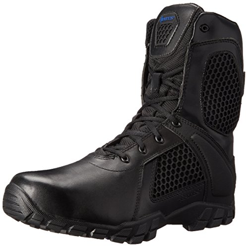 Bates Men's 8 Inch Strike Side Zip Waterproof Tactical Boot, Black, 12 M US by Bates