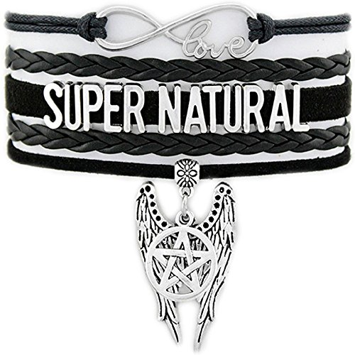 Supernatural Infinity Love Bracelet Collection (Standard, Supernatural Wings Of Castiel)