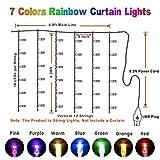 Rainbow Fairy String Curtain Lights with