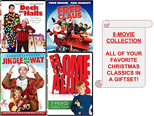 Family & Kids Christmas 8-Movie DVD COLLECTION (Home Alone/ Home Alone 2: Lost in New York/ Home Alone 3/ Home Alone 4:Taking Back The House/ Home Alone 5: Holiday Heist/ Jingle All The Way/ Fred Clau (Home Alone 4 Taking Back The House)