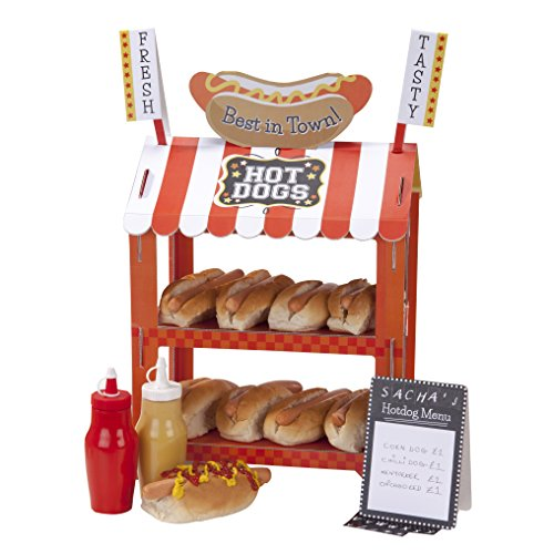 Talking Tables Street Stalls Hotdog & Popcorn Treat Stand for a Birthday Party or General Party Decoration, Multicolor