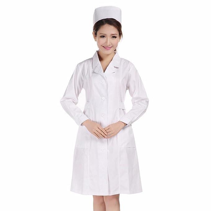 Xuanku Las Enfermeras Blanca Manga Larga, División De Salón De Belleza, Ropa De Trabajo