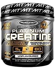 MuscleTech Creatine Monohydrate Powder, 100% Pure Micronized Creatine Powder, Muscle Builder & Recovery, Unflavored, 80 Servings (400g)