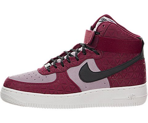 NIKE Air Force 1 Hi PRM Suede Womens Basketball-Shoes 845065-600_7.5 - Noble Red/Black-Plum Fog-Summit White by NIKE